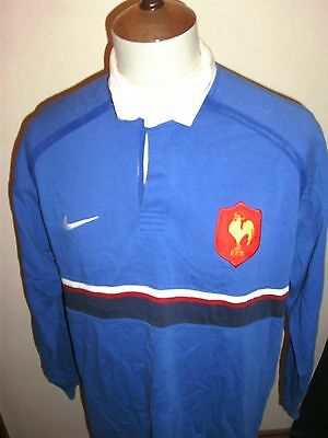 France Rugby Union Shirt Size Large