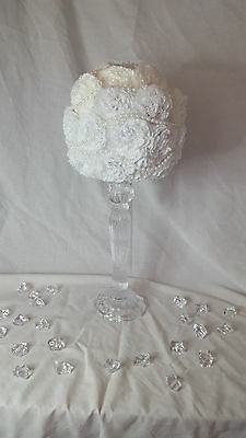 White Carnation With Pearls Topiary Tree, Weddings, Table Decor, Centerpieces