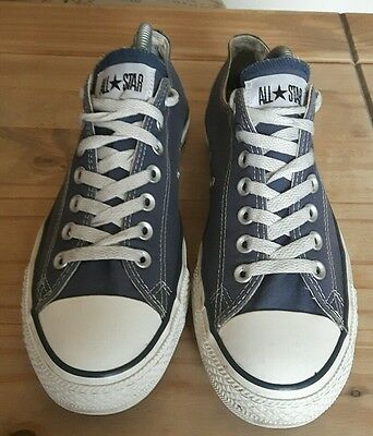 mens converse navy trainers size UK 9 vgc