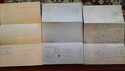 WW1 SOMME 3 X LETTERS IN FRENCH To /From JOFFRE PETAIN GALLIENI AND TO SOLDIERS
