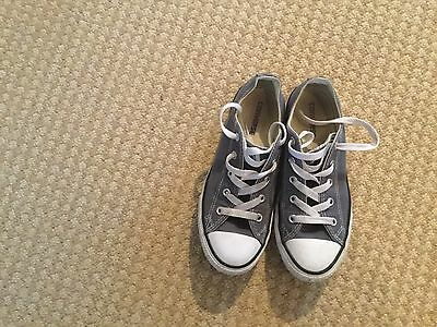 Grey Converse - Size 2 - In Excellent Condition