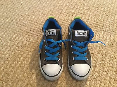 Grey Junior Converse Ankle Boots - Size 2.5 - In Good Condition