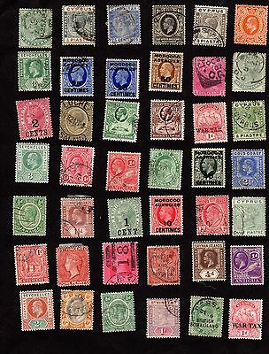 Stamps ~ Mixed COMMONWEALTH Queen VICTORIA & KINGS ~ UNSORTED