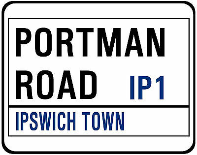 Ipswich Town F.c. Street Sign On Mouse Mat / Pad. Portman Road