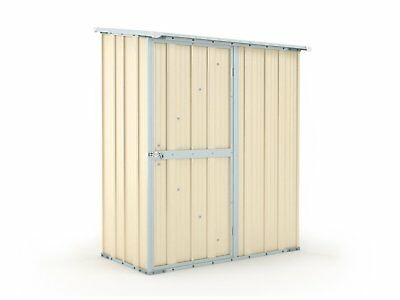 Garden Shed 1.55m x 0.79m x 1.92m Cream Small Storage Sheds Cheap Steel NEW