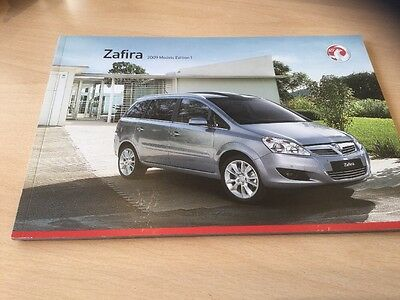 VAUXHALL ZAFIRA 2009 MODELS EDITION 1, Sales Brochure, VM0807909, 56 Pages