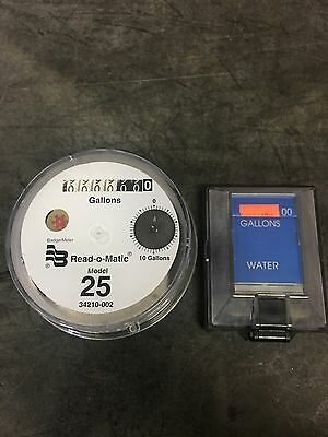 Badger Model 25 Water Meter Pulse Register And Remote Package. Gallons