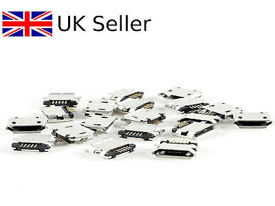 10 x Micro USB Type B Female Socket 180 Degree 5-Pin SMD Soldering 1141nigel