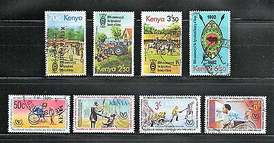 Kenya -- 2 used commemorative complete sets  from 1981-82 -- catalog $9.55