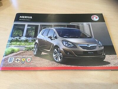 VAUXHALL MERIVA 2012 MODELS EDITION 1, Sales Brochure, VM1109450, 60 Pages