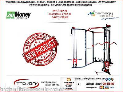 MEGA Power Rack Cable Cross + Lat Attachment + Toaster Rack + ChinUp FREE Bench