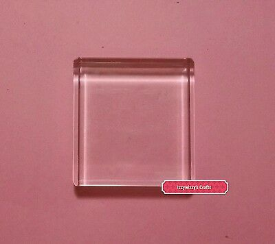 Stampin Up Clear Acrylic Block C for cling rubber stamps EUC (1615)