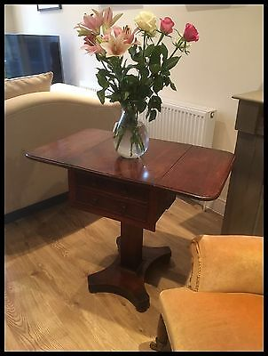 Antique Victorian Mahogany Drop Flap Side/work Table
