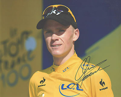 "Hand-Signed Photograph of Chris Froome 10""x8"" with COA"