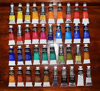 Complete Lot of 40 Winsor & Newton Artisan Water Mixable Oil, Brand New 37 ml.