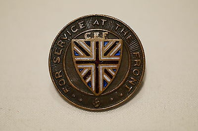 WW1 Canadian CEF Service at the Front Lapel Pin