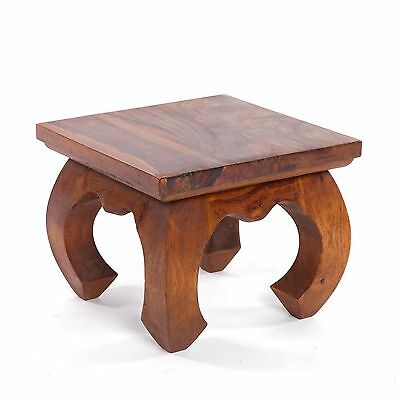 "WOODEN OPIUM TABLE GANESHA | brown, W10xH8xD10"", solid rosewood 