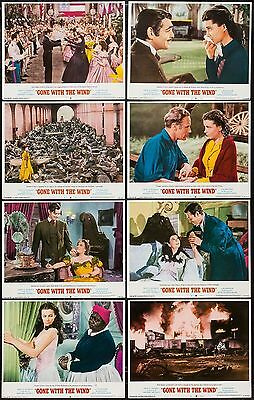 Authentic, Gone With The Wind, Eight Lobby Cards, Technicolor, Circa 1968-74
