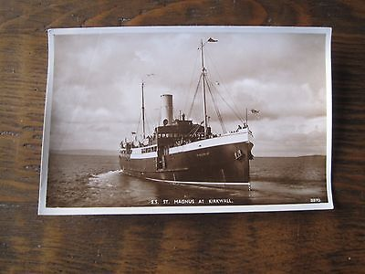 Vintage Postcard Rp Ss St Magnus At Kirkwall A R Edwards & Sons