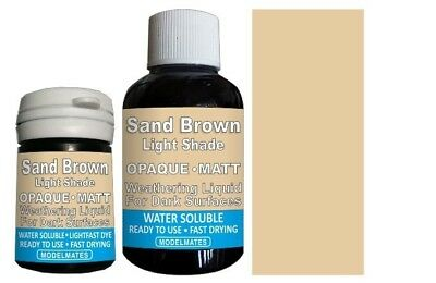 Modlemates Opaque Weathering Liquid - Light Sand Brown - 18ml Paint New