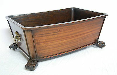George Iv Mahogany Bow Fronted Wine Cooler Or Cellarette