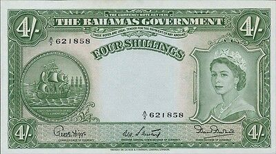 Bahamas 4 Shillings 1953 Pick 13b (1)