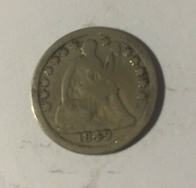 1849 Seated Liberty Half Dime