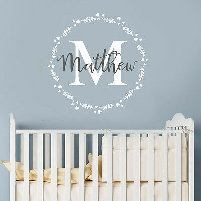 Personalised Mural Boy Name Nursery Children Bedroom Wall Sticker Wall Decal