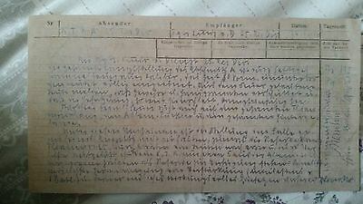 Copy of WW1 SOMME. LAST CARRIER PIGEON MESSAGE FROM FORT DOUAUMONT GERMAN 24 OCT