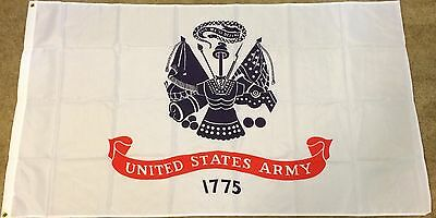 New White United States Army 1775 Hanging Flag 5ft X 3ft