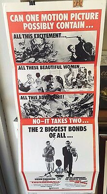 1971 Thunderball/You Only Live Twice Insert Poster Sean Connery James Bond 007