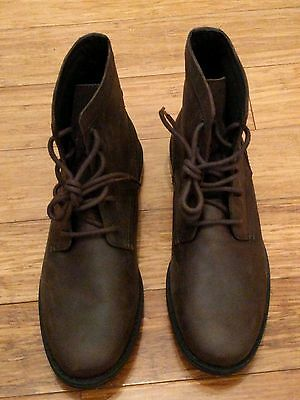 Mens' Brand New Asos Brown Leather Boots Size 9!