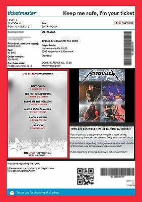 Metallica Kopenhagen 07.02.2017 Ticket (Sold Out)