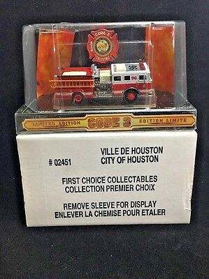 Texas Houston E-96 Code 3 Fire Engine 1/64 Seagrave Pumper Trk Canadian Edition