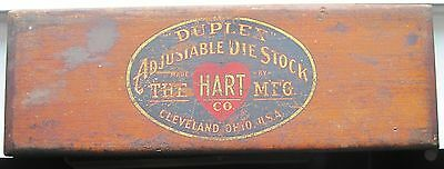 Duplex Adjustable Die Stock, Hart Mfg., Cleveland, Ohio, Wooden Container, Used