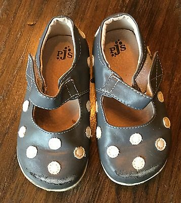 Puddle Jumper Shoes Toddler Mary Jane Gray With White Polka Dots Size 8