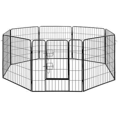 Large Dog Play Pen Metal Fence Pet Cage Run Enclosure Puppy Exercise