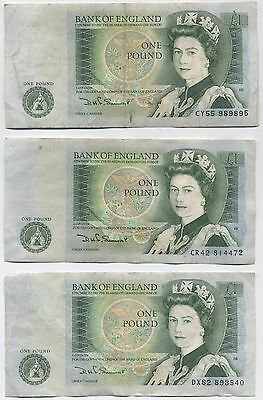 Bank Of England £1 Notes***Collectors***