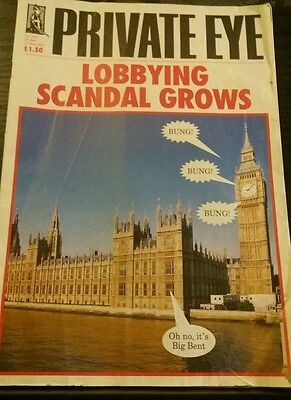 Private Eye Mag # 1342 14 June 2013 House of Lords Lobbying Scandal cover  Bung