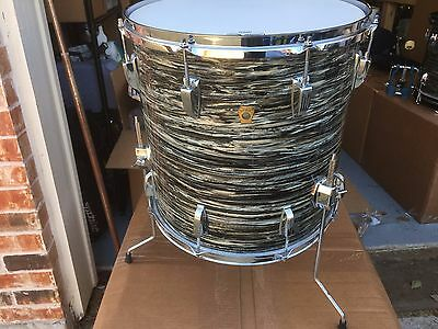 """1966 Ludwig 16"""" Black Oyster Pearl Ringo Floor Tom Drum-  Great Condition!!"""