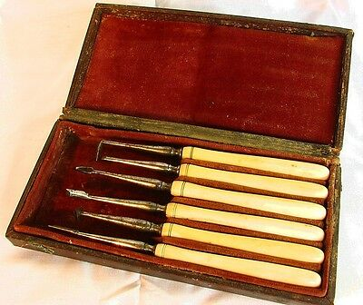 ANTIQUE DENTAL INSTRUMENTS with ORIGINAL CASE c.1850