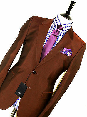 Bnwt Mens Paul Smith Ps London Tonic Brown Mod Skinhead Tailored Suit 40R W34
