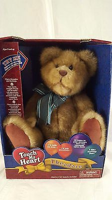 Touch My Heart Theodore Interactive Talking Bear 2002 Smart Group NEW IN BOX NIB