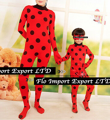 Simil Ladybug Vestito Tuta Carnevale Donna Bimba Cosplay Lady Bug Costume LBUG01