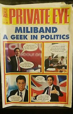 Private Eye Mag # 1324  6 October 2012  Ed Miliband MP  Labour Doncaster cover
