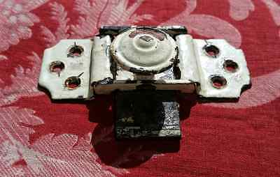 Antique French Metal Slide Bolt Door Latch Lock Shabby Painted Fully Working
