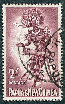 PAPUA NEW GUINEA 1961-2 2s maroon SG31 used NG Male Dancer c #W9
