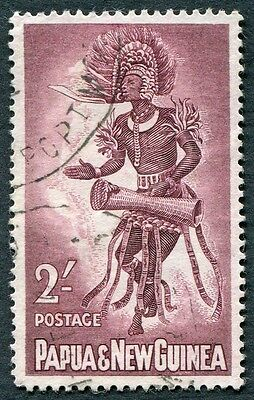 PAPUA NEW GUINEA 1961-2 2s maroon SG31 used NG Male Dancer e #W9