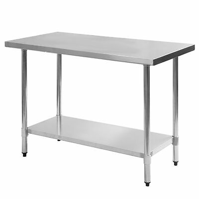 "Stainless Steel Work Prep Table 30"" x 48"" NSF Certified"