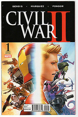 CIVIL WAR II #1 1:25 Variant, Marvel, 2016  NM- (9.2)  Marquez